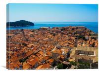 Dubrovnik and Lokrum Island, Canvas Print