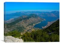Bay of Kotor in Montenegro, Canvas Print