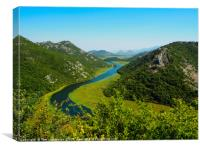 The Crnojevica River In Montenegro, Canvas Print