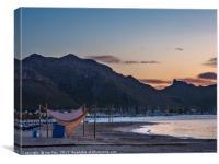 Dawn in Port de Pollence, Canvas Print