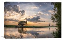 Reflection - River Thurne, Canvas Print