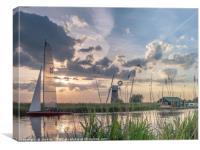Sailing at Sunset, Canvas Print