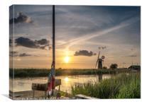 Sailing the Norfolk Broads, Canvas Print