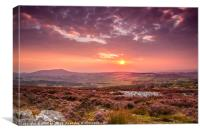 Sunset on the Shropshire Hills, Canvas Print