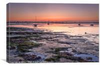 Heybridge Basin  Essex  Sunrise, Canvas Print