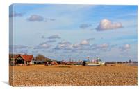 Aldeburgh Beach on a Bright Summer Day, Canvas Print