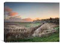 Cley Marshes at Sunrise, Canvas Print