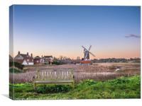 Cley Windmill Sunrise, Canvas Print