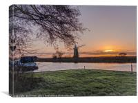 Sunset at St Benet's , Canvas Print