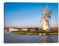 Thurne Mill   Norfolk Broads, Canvas Print