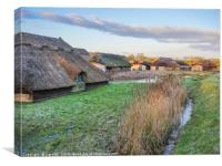 Thatched Boat Houses at Hickling, Canvas Print