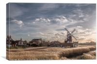 Cley next the Sea  Norfolk - A Bright Winters Day, Canvas Print
