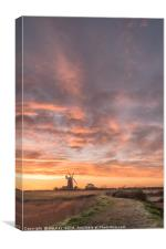 Midwinter Sunrise  -  Tower Windmill , Canvas Print