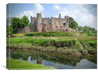 Laugharne Castle , Canvas Print