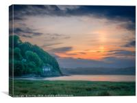 The Taf Estuary of Laugharne Wales, Canvas Print