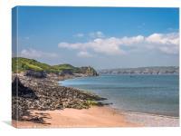 Caldy Island Beach Life, Canvas Print