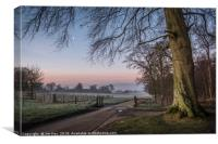 A Winter's Dawn at Felbrigg Hall, Canvas Print