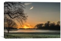 The Sun Rising - Felbrigg Estate Norfolk, Canvas Print