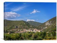 Roquebrun France, Canvas Print
