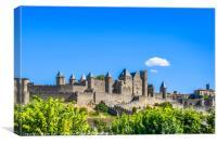 Cité de Carcassonne, Canvas Print