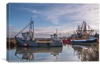 Late Sunshine at Brancaster Staithe , Canvas Print