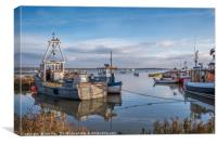 Sunny Evening at Brancaster Staithe, Canvas Print