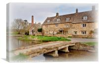 Lower Slaughter in the Spring, Canvas Print
