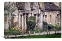 Bibury Arlington Row  The Cotswolds, Canvas Print