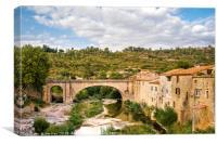 Lagrasse  Languedoc-Roussillon, France, Canvas Print