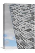 Titanic Building (vertical perspective), Canvas Print