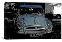Morris Minor colour pop!, Canvas Print