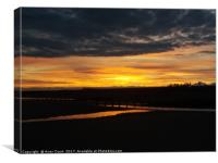 Sunset over Camber Sands, Canvas Print