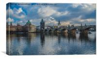 The Charles Bridge, Prague, Canvas Print