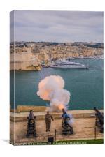 Cannon Fire, Valletta, Malta, Canvas Print