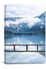 Alps mountains reflected in water, Canvas Print