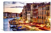 Grand Canal, Rialto, Venice, Canvas Print
