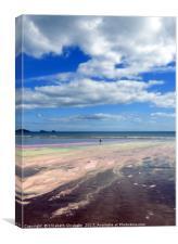Rainbow beach, Canvas Print