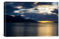 Sunrise over Ushuaia, Argentina, Canvas Print