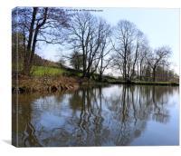 Middle Pond - Lumsdale, Derbyshire, Canvas Print