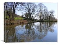 Middle Pond, Lumsdale, Derbyshire, Canvas Print