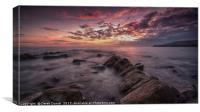 Kimmeridge Sunset, Dorset, Canvas Print
