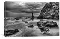 Cullen Beach, Moray, Canvas Print
