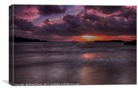 Trearddur Beach Sunset, Canvas Print