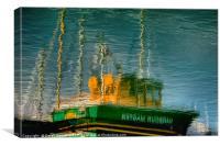 Boat Reflection, Canvas Print