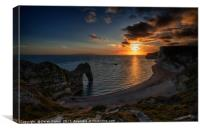 Durdle Dor Sunset, Canvas Print