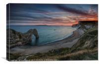 Durdle Dor Sunset, Canvas Print