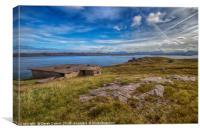 WWII Bunkers Loch Ewe, Canvas Print