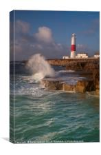 Stormy sea at Portland, Canvas Print