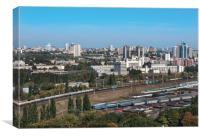 Kiev, Ukraine, cityscape, view of the railway junc, Canvas Print