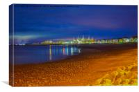 Minehead beach early in the morning, Canvas Print